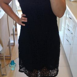 French lace cotton dress