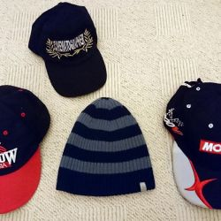 Baseball caps and caps for a boy