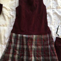 Σχολική στολή για το κορίτσι 19. Μέγεθος 128.