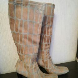 Leather boots, exclusive! Giraffe imitation, 37-38
