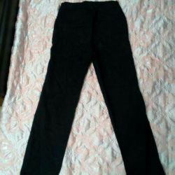 Παντελόνια / παντελόνια για γυναίκες σκούρο μπλε σχεδόν μαύρο