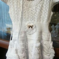 Платье ажурное с сумочкой рост 98-104