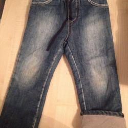 Утеплeнные джинсы (р.98+)