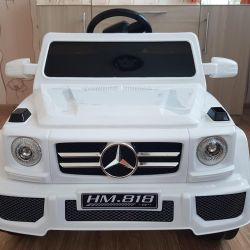 Elektrikli otomobil Mercedes G55 Beyaz renk yeni