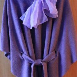 Stylish poncho coat