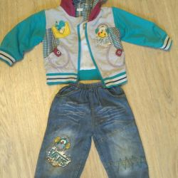 Costume for the boy spring
