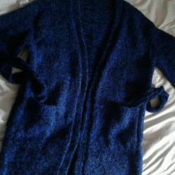 Cardigan, hand knitted.
