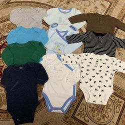 Carter's Body Package, MeToo Jumpsuits, 3-6m