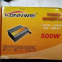 12v'den 2'ye KonnWei 500W voltaj dönüştürücü