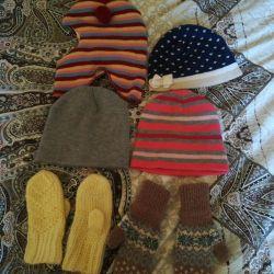 Καπέλα και γάντια από 1 έως 3 χρόνια