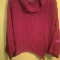 sweater orange with a collar 62-64