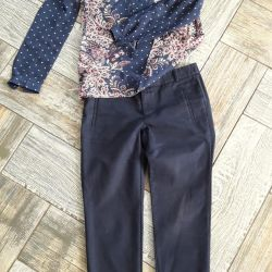blouse and pants zara 44 size