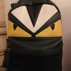 Dark green monster backpack