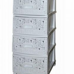 Chest 4 sections DECOR Openwork white