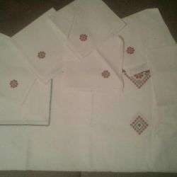 Set of napkins + tablecloth flax USSR 20-30 years