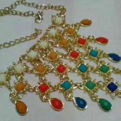New set of Lady Collection: necklace + bracelet + earrings.