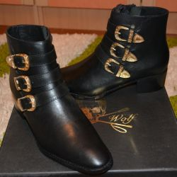 New brand Italy leather boots