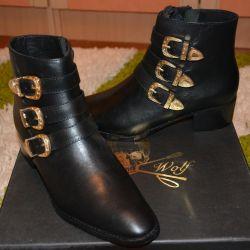Новые брендовые ботинки Италия кожа