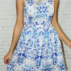 Платье гжель новое
