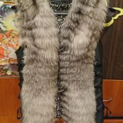 vest female from natural fur fox