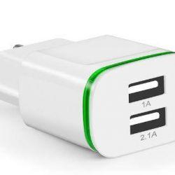 2 bağlantı noktası için CinkeyPro USB 220v şarj adaptörü