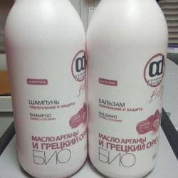 Shampoo and balm Strengthening and protection.