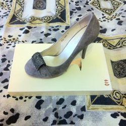 Shoes, 37p nat. Zamsha, not used