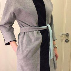 Ekler ile yeni gri Chic ceket