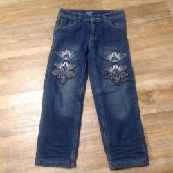 Jeans warmed + gift for the boy 4-6 years.