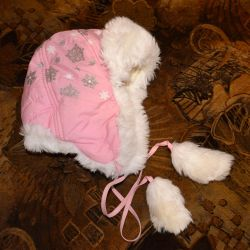 Hat with earflaps for children 3-5 years old