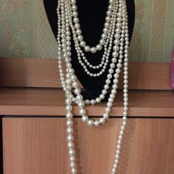 Pearl beads.