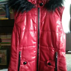 Red vest with fur