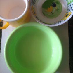 Пластиковая посуда для детей