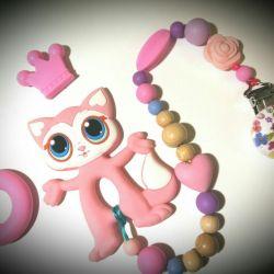 Silicone Teether Kitten