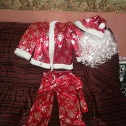 5-9 yaş arası bir çocuk için Noel Baba kıyafeti