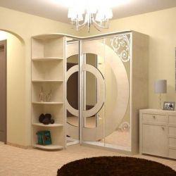 Sliding wardrobe with Radius Open Shelves