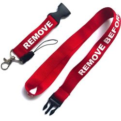 Trinket. Holder around the neck. Aviation. REMOVE BEFORE F