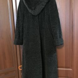 Coat woolen female, winter solution 48