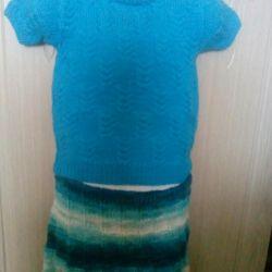 Вязаная юбка, новая