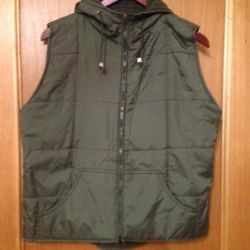 Double-sided vest with a hood