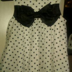 Dress with polka dots for a girl 1-1.5 years old