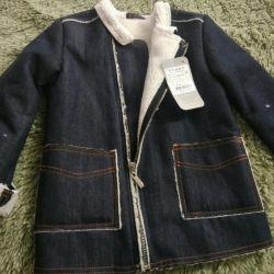Ветровка утепленная джинса на меху фирма Овас
