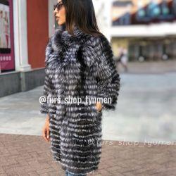 Gümüş tilki ceket