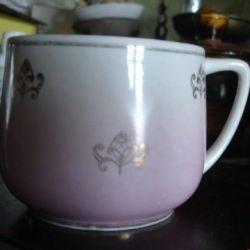 Verbilki fincan ve tatlı tabağı + kahve çifti