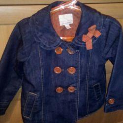 Джинсовое пальто некст оригинал рост 98-104