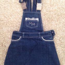 skirt with straps, Mia overalls, 110 cm