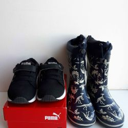 Sneakers Puma p.27, boots p.28