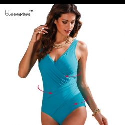 New women's solid swimsuit.