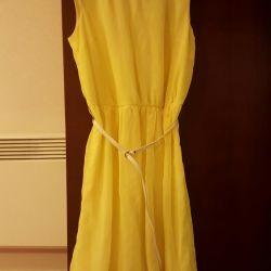 Sarı Yazlık Elbise 46