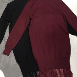 Tricotate rochie de dantelă de jos